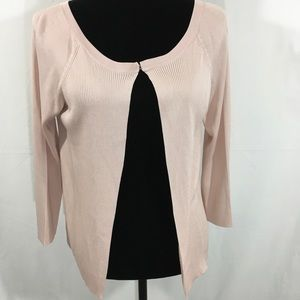 Dana Buchman Pink 100% Silk Open Cardigan
